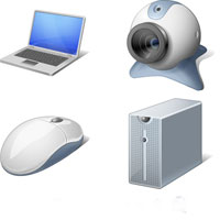 compute hardware icons set