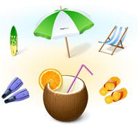 windows7 icons vacation