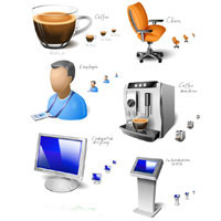 office space icon set