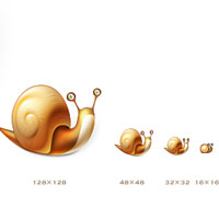 ful size snail icon