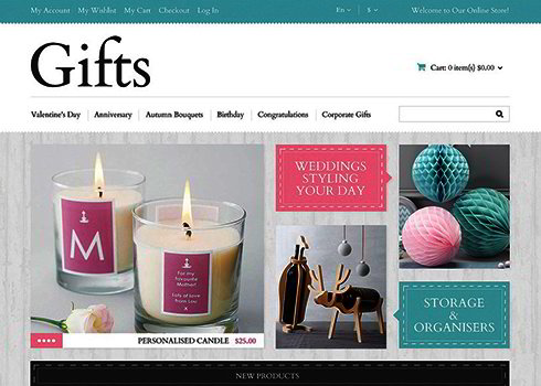 Gifts Magento Theme