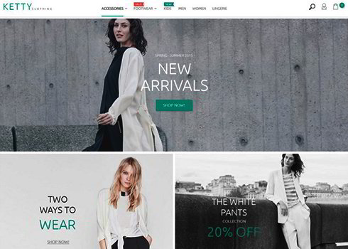 Ketty Clothing Magento Theme
