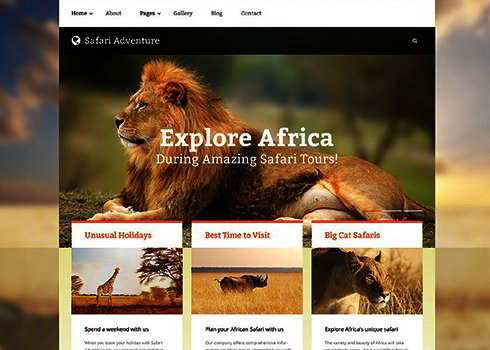 Safari Adventure Joomla Template