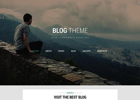 Blog Theme Joomla Template