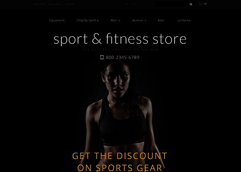 Fitness Training OpenCart Template