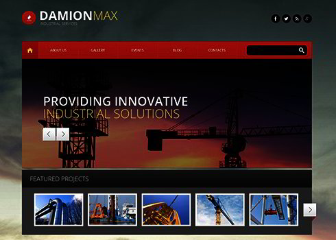 Industrial Corporation WP Theme