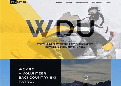 Responsive Website Template for Ski Resort