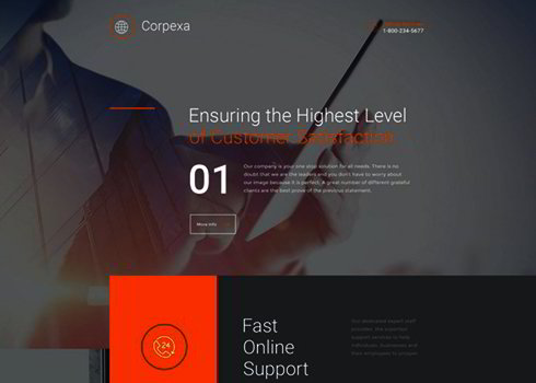 Business Responsive Landing Page