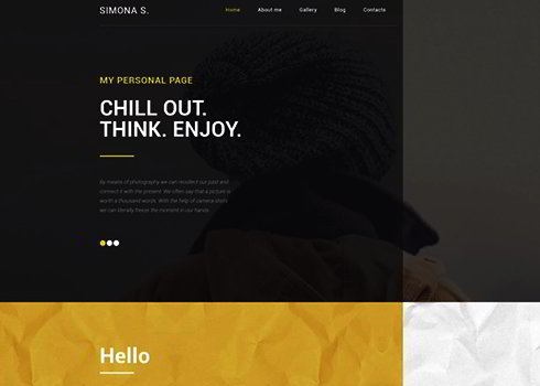 Simona S WordPress Theme