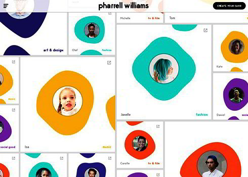Pharrell Williams Personal Website