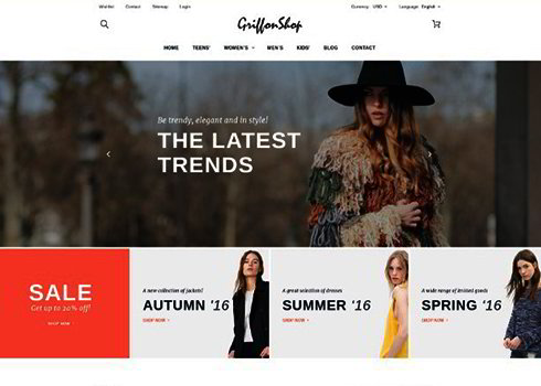 Griffon Shop PrestaShop Theme