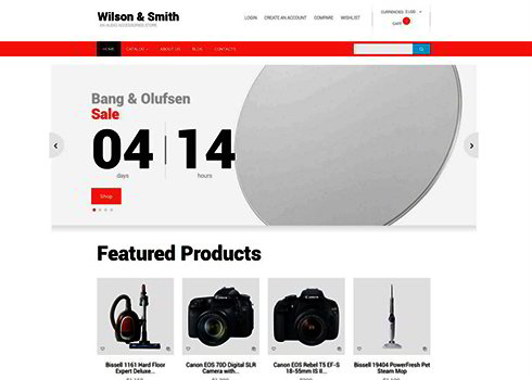 Electronics Store Responsive VirtueMart Template