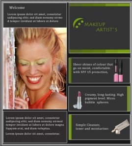 Make-up Artist\'s Website