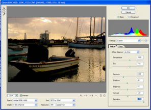 Working in the Photoshop CS Camera Raw Dialog Box
