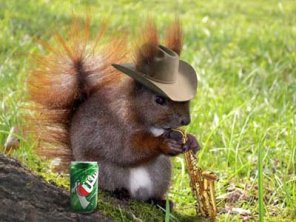 Squirrel with Saxophone Photo Effect