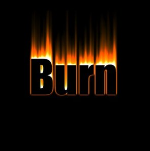 Create Blazing Text Fire Burn Text Effect