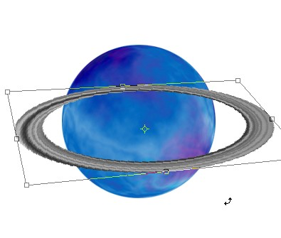 Blue Saturn Planet with Rings in Galaxy | Drawing Techniques