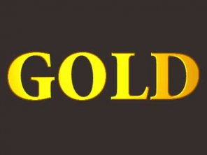 Simple gold text