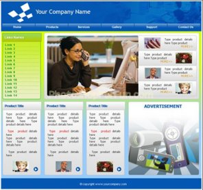 Corporate Look Website Home Page