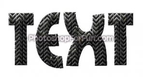 Creating Tire Style Text with Embossed Rubber Effect