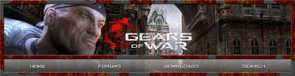 Gears of War Website Header