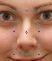 how to change the size of your nose in photoshop