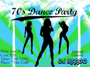 70\'s Dance Party Invitation
