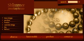 Navigation Header for a Jewelry Website