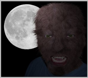 Turning yourself into a werewolf with photoshop