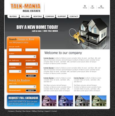 real estate layout web layout