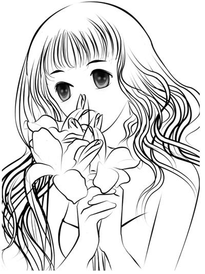 Раскраска человека девушку