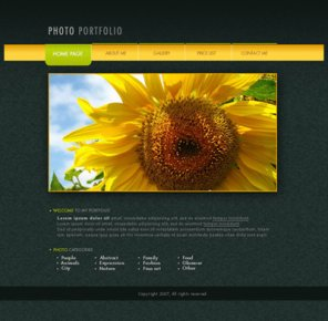 Photo Portfolio Web Page Layout