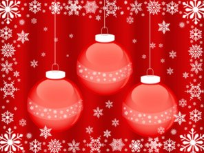 Christmas Balls Wallpaper
