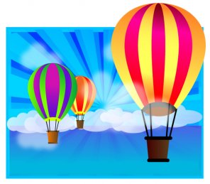 Create a Cool Air Balloon Wallpaper