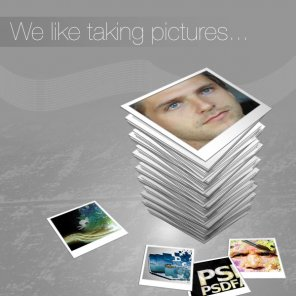 Display your photos within a professional advert