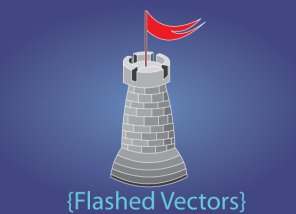 Using Adobe Flash to Create Vector Illustration of a Castle