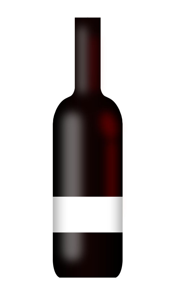 Create a realistic wine bottle illustration from scratch ...