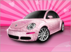 Decorate Your Own Hello Kitty Car