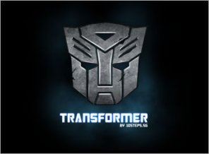 How to Make of Metallic Transformers Logo
