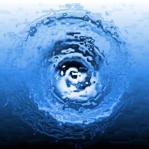 Water ripple effect top