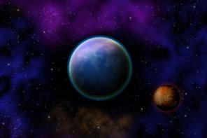 Create a Planet and Outer Space Scene