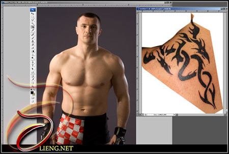 the main source (crocop) this will create a new layer. Now on the tattoo