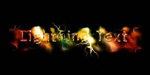 Realistic Lightning Text Effect