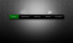Simple glossy navigation bar design in photoshop
