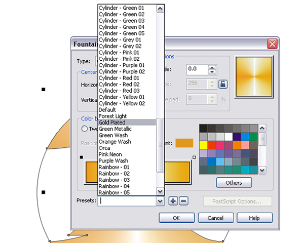 how to change default text in corel draw 12