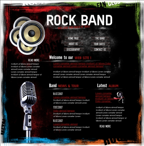 Rock Band Layout - Music Layout