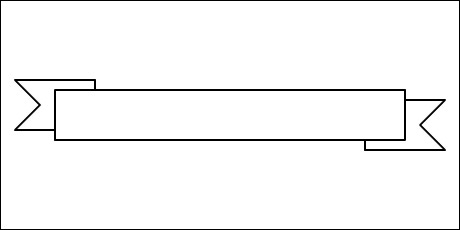 how to draw a ribbon banner