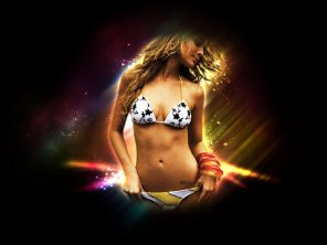 Sparkling Hot Girl in Photoshop