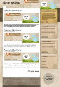 Making the \'Clean Grunge\' Blog Design
