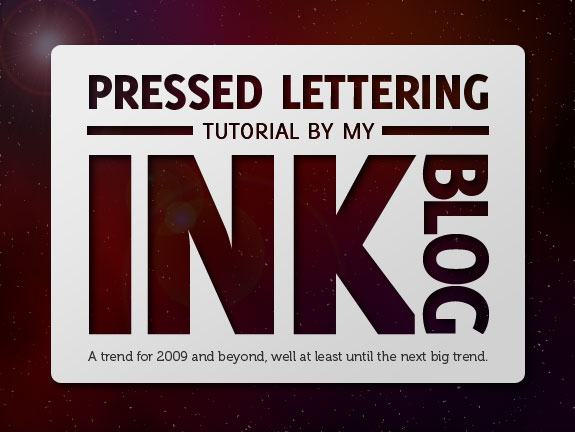 Create a Sleek Pressed Letter Design